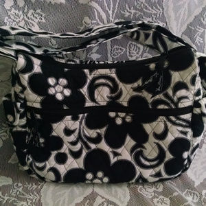 "Vera Bradley ""Little Betsey"" Black & White Handbag"